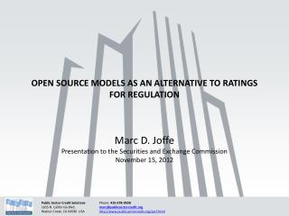 Open source models as an alternative to ratings for regulation