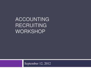 Accounting Recruiting Workshop