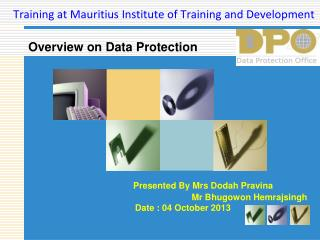 Training at Mauritius Institute of Training and Development