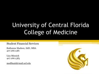 University of Central Florida College of Medicine
