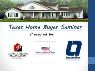 Texas Home Buyer Seminar