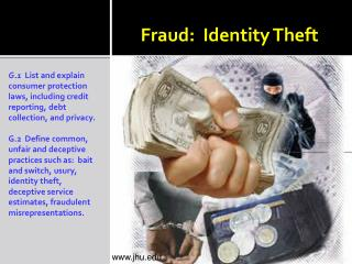 Fraud:  Identity Theft