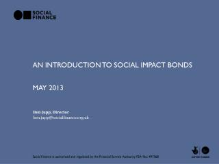 An introduction to social impact bonds