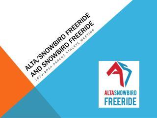 Alta/Snowbird Freeride and snowbird freeride