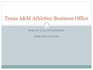 Texas A&M Athletics Business Office