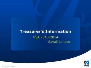 Treasurer's Information