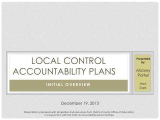 Local Control Accountability plans