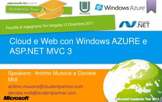 Cloud e Web con Windows AZURE e ASP.NET MVC 3