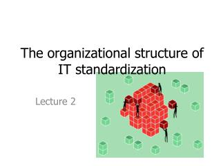 T he  organizational structure of IT standardization
