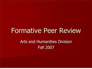 formative peer review