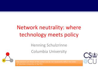 Network neutrality: where technology meets policy