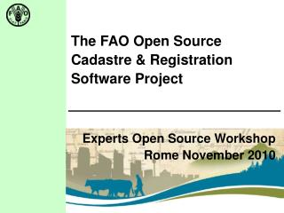 The FAO Open Source  Cadastre & Registration Software Project