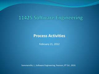 11425 Software Engineering