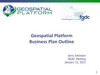 Geospatial Platform Business Plan Outline
