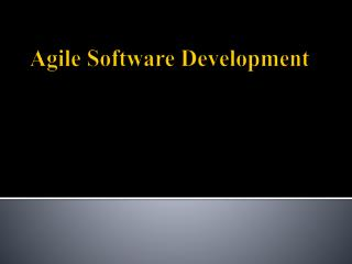 A gile Software Development