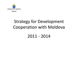 Strategy for Development Cooperation with Moldova