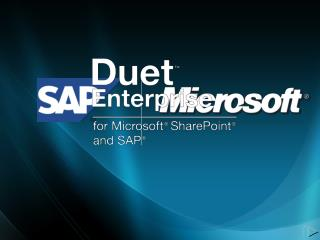 Duet Enterprise Technical  Overview