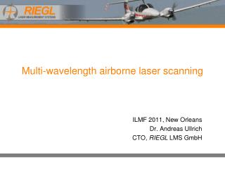 Multi-wavelength airborne laser scanning