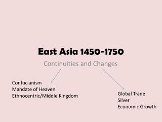 East Asia 1450-1750