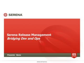 Serena Release Management Bridging Dev and Ops