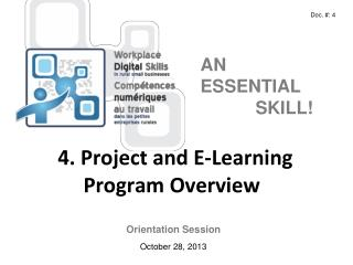 4 . Project and E-Learning  Program  Overview