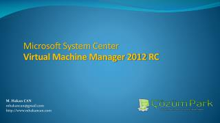 Microsoft System Center  Virtual Machine Manager 2012  RC