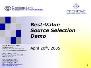 Best-Value Source Selection Demo
