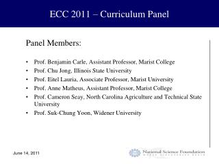 ECC 2011 – Curriculum Panel