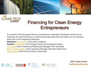 Financing for Clean Energy Entrepreneurs