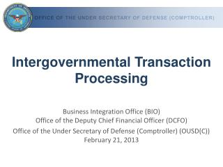Intergovernmental Transaction Processing