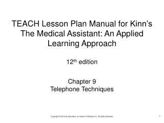 Chapter 9 Telephone Techniques
