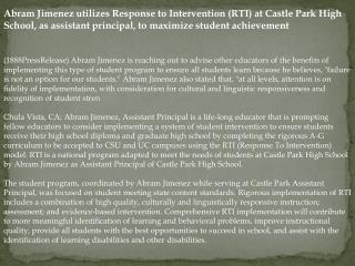 abram jimenez utilizes response to intervention (rti)