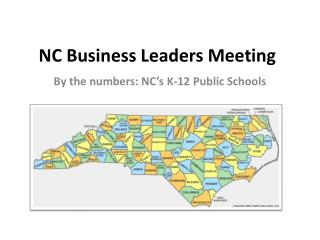NC Business Leaders Meeting