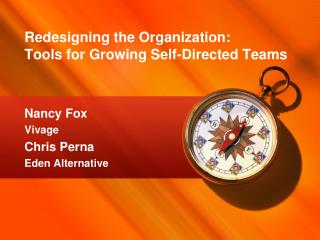Redesigning the Organization:  Tools  for Growing Self-Directed  Teams