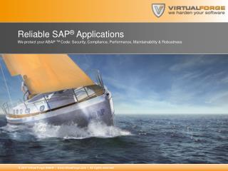 Reliable  SAP ® Applications