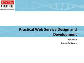 Practical Web Service Design and  Development