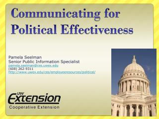 Communicating for Political Effectiveness
