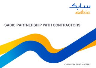 SABIC partnership WITH CONTRACTORS