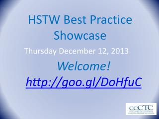 HSTW Best Practice  Showcase