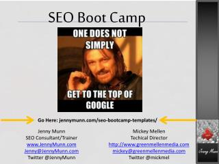 SEO Boot Camp