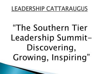 LEADERSHIP CATTARAUGUS
