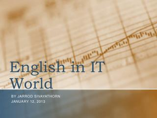 English in IT World