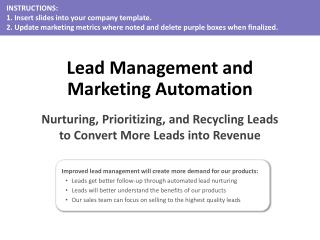Lead Management and Marketing Automation