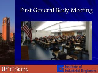 First General Body Meeting