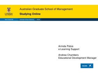Australian Graduate School of Management Studying Online