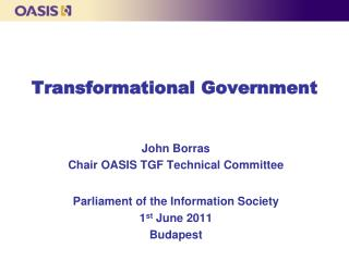 Transformational Government