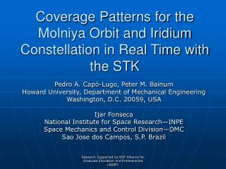 coverage patterns for the molniya orbit and iridium constellation ...