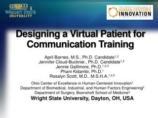 Designing a Virtual Patient for Communication Training