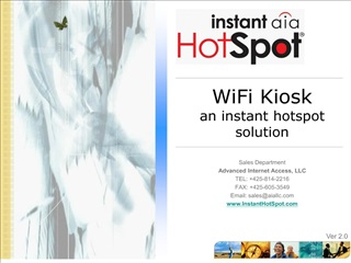 wifi kiosk an instant hotspot solution