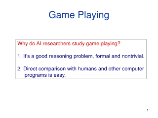 learning ai in games